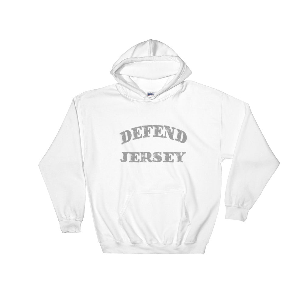 Defend Jersey Classic Hooded Sweatshirt w/Gray Design
