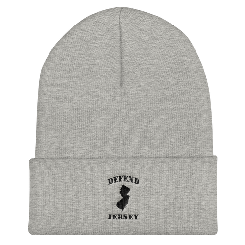 Defend Jersey State Cuffed Beanie w/Black Design
