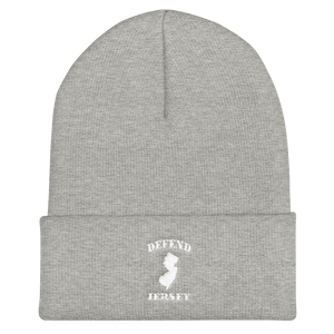 Defend Jersey Classic Cuffed Beanie w/White Design