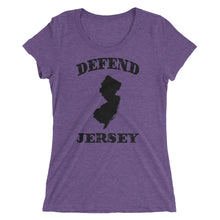 Defend Jersey State Ladies' short sleeve t-shirt w/Black Design