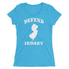 Defend Jersey State Ladies' short sleeve t-shirt w/White Design