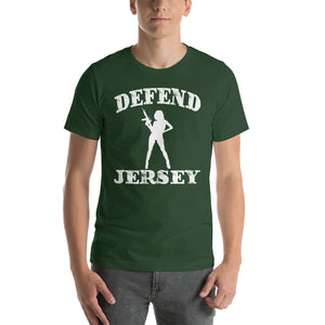Defend Jersey Beauty Short-Sleeve Unisex T-Shirt w/White Design