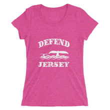 Defend Jersey Whales Ladies' short sleeve t-shirt w/White Design