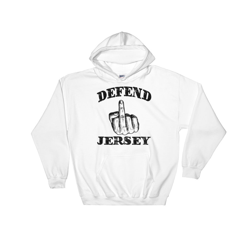 Defend Jersey Finger Hooded Sweatshirt w/Black Design