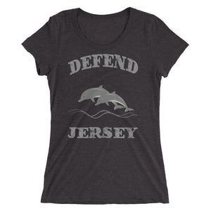 Defend Jersey Dolphins Ladies' short sleeve t-shirt w/Gray Design