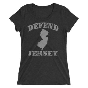 Defend Jersey State Ladies' short sleeve t-shirt w/Gray Design