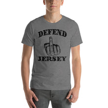 Defend Jersey Finger Short-Sleeve Unisex T-Shirt w/Black Design