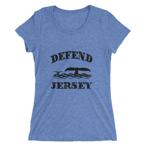 Defend Jersey Whales Ladies' short sleeve t-shirt w/Black Design