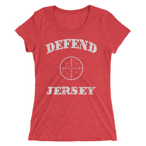 Defend Jersey Scope Ladies' short sleeve t-shirt w/White Design