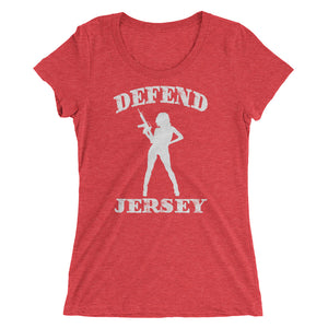 Defend Jersey Beauty Ladies' short sleeve t-shirt w/White Design