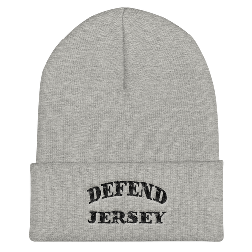 Defend Jersey Classic Cuffed Beanie w/Black Design
