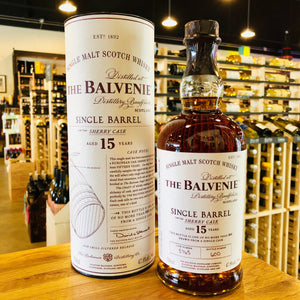 THE BALVENIE 15 YEAR SINGLE BARREL SHERRY CASK SINGLE MALT SCOTCH 750ML