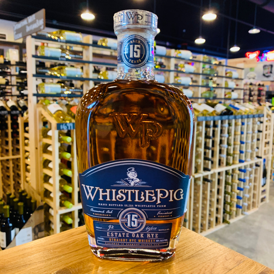 WHISTLEPIG 15 YEAR STRAIGHT RYE WHISKEY 750ML