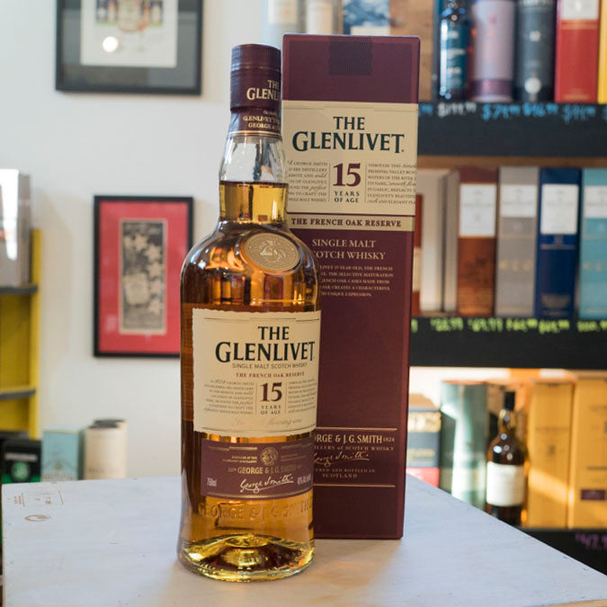 THE GLENLIVET 15 YEAR FRENCH OAK RESERVE SINGLE MALT SCOTCH 750ML