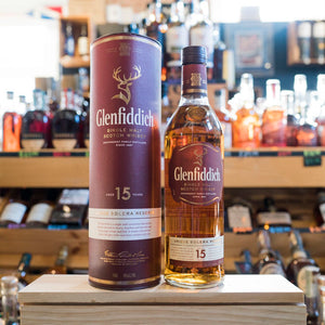 GLENFIDDICH 15YR UNIQUE SOLERA RESERVE SINGLE MALT SCOTCH 750ML