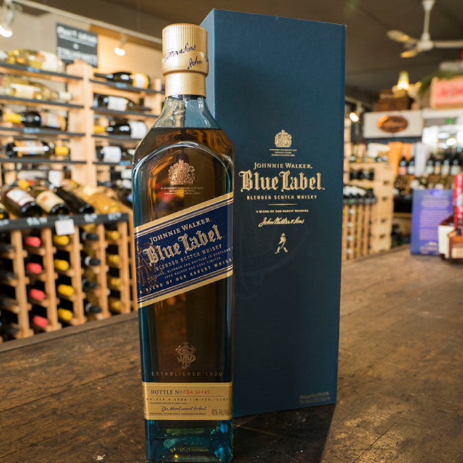 JOHNNIE WALKER BLUE LABEL BLENDED SCOTCH WHISKY 750ML
