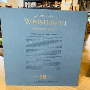 WHISTLEPIG 18 YEAR STRAIGHT RYE 750ML