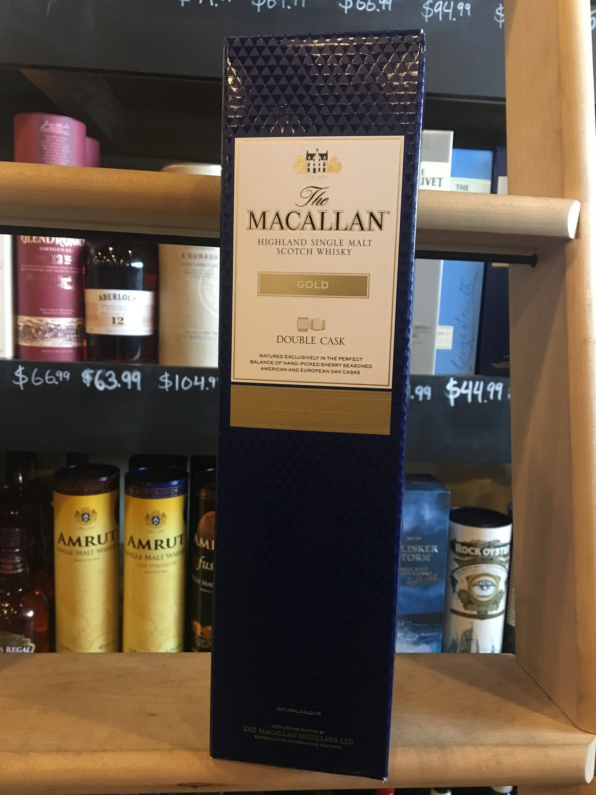 THE MACALLAN GOLD DOUBLE CASK 750ML