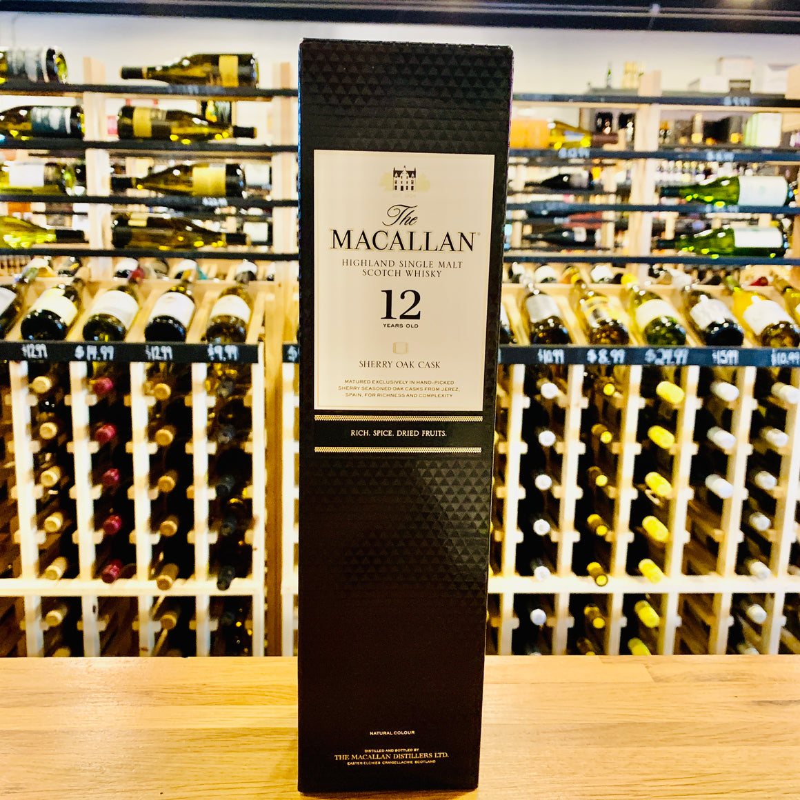 THE MACALLAN 12 YEAR SHERRY CASK SINGLE MALT SCOTCH WHISKY 750ML