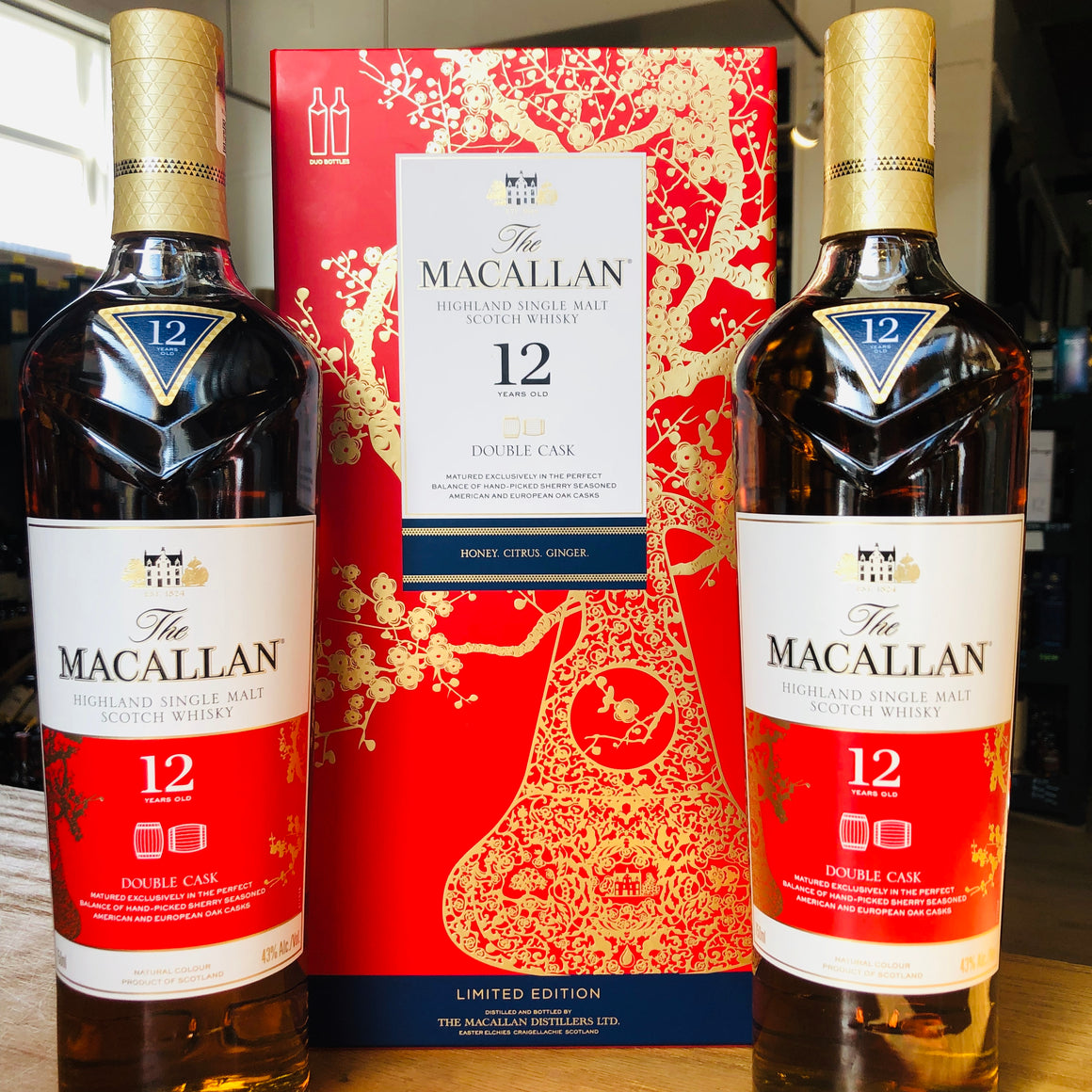 MACALLAN 12 YEAR DOUBLE CASK LUNAR NEW YEAR SINGLE MALT SCOTCH WHISKY (2 BTLS) 750ML