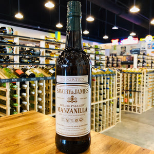 SAVORY & JAMES DELUXE PALE DRY MANZANILLA 750ML