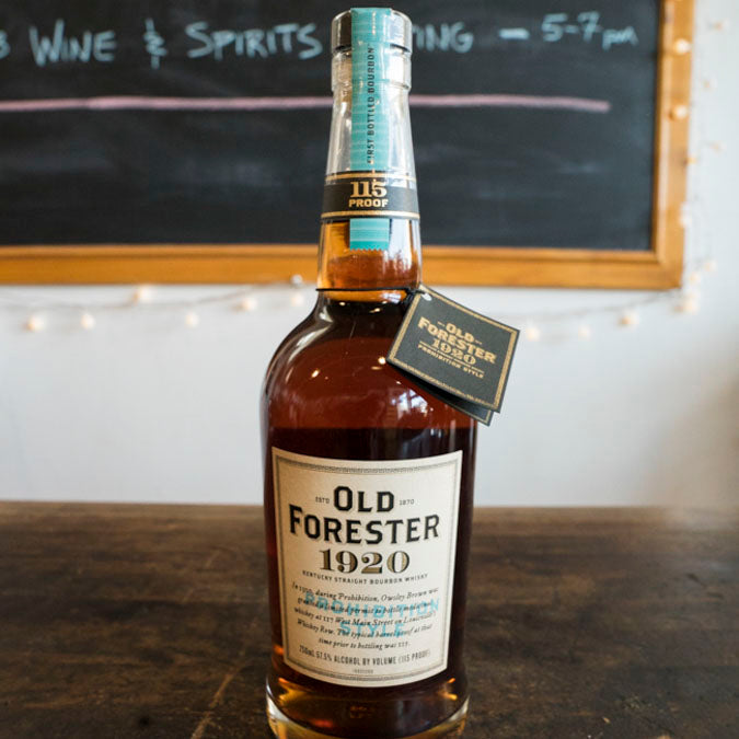 OLD FORESTER 1920 PROHIBITION STYLE 115 PROOF BOURBON 750ML