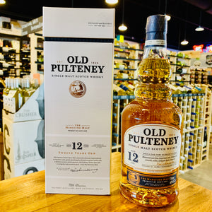 OLD PULTENEY 12 YEAR SINGLE MALT SCOTCH 750ML