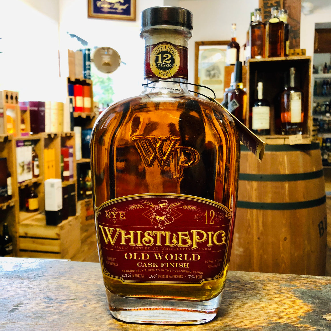 WHISTLEPIG 12 YEAR OLD WORLD CASK FINISH RYE WHISKEY 750ML