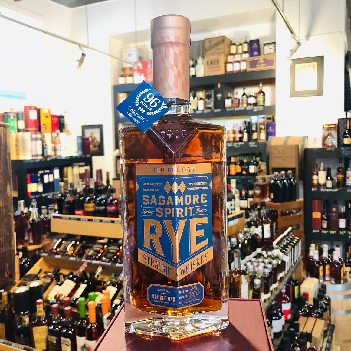 SAGAMORE DOUBLE OAK STRAIGHT RYE WHISKEY 750ML