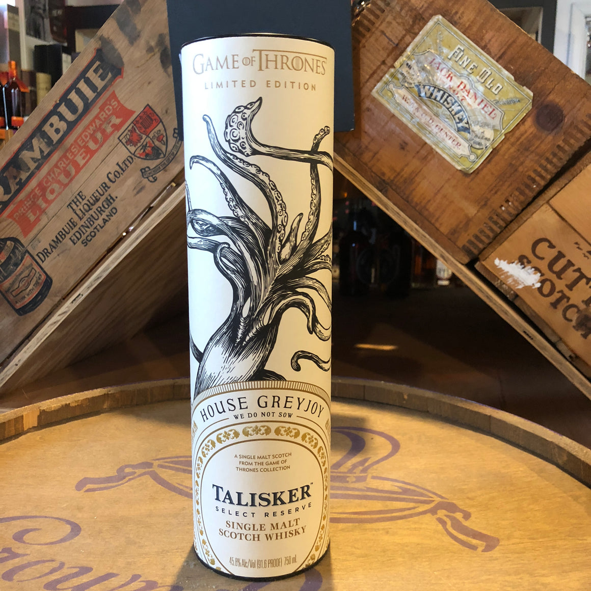 TALISKER SELECT RESERVE HOUSE GREYJOY GAME OF THRONES SINGLE MALT SCOTCH 750ML