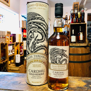CARDHU GOLD RESERVE HOUSE TARGARYEN GAME OF THRONES SINGLE MALT SCOTCH 750ML