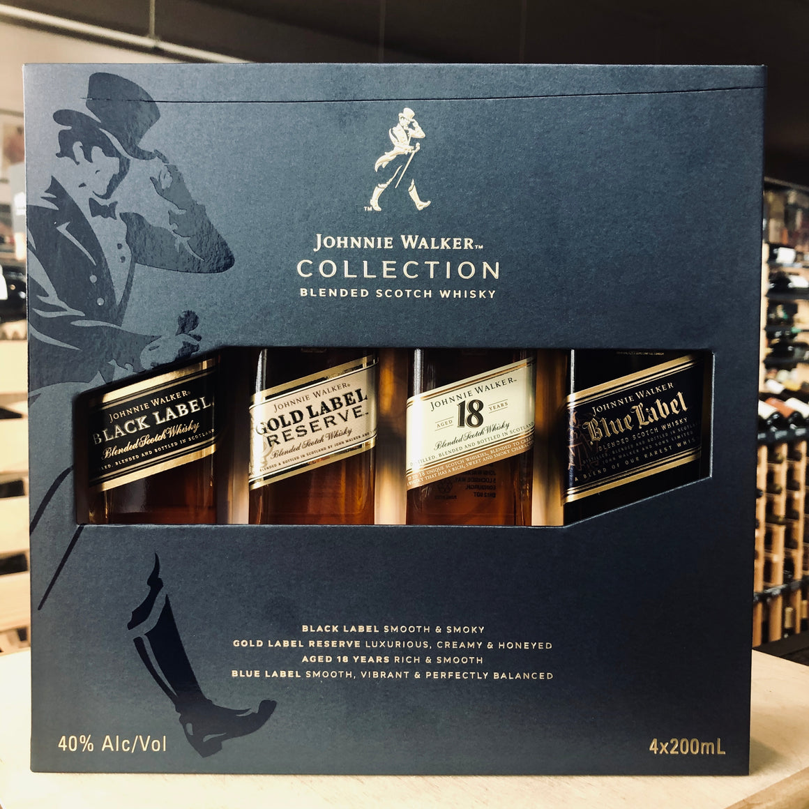 JOHNNIE WALKER COLLECTION 4 x 200ML