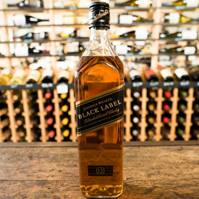 JOHNNIE WALKER BLACK LABEL BLENDED SCOTCH WHISKY 750ML