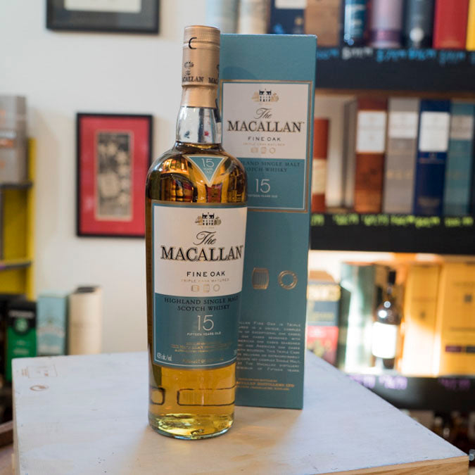 THE MACALLAN 15 YEAR FINE OAK TRIPLE CASK MATURED SINGLE MALT 750ML