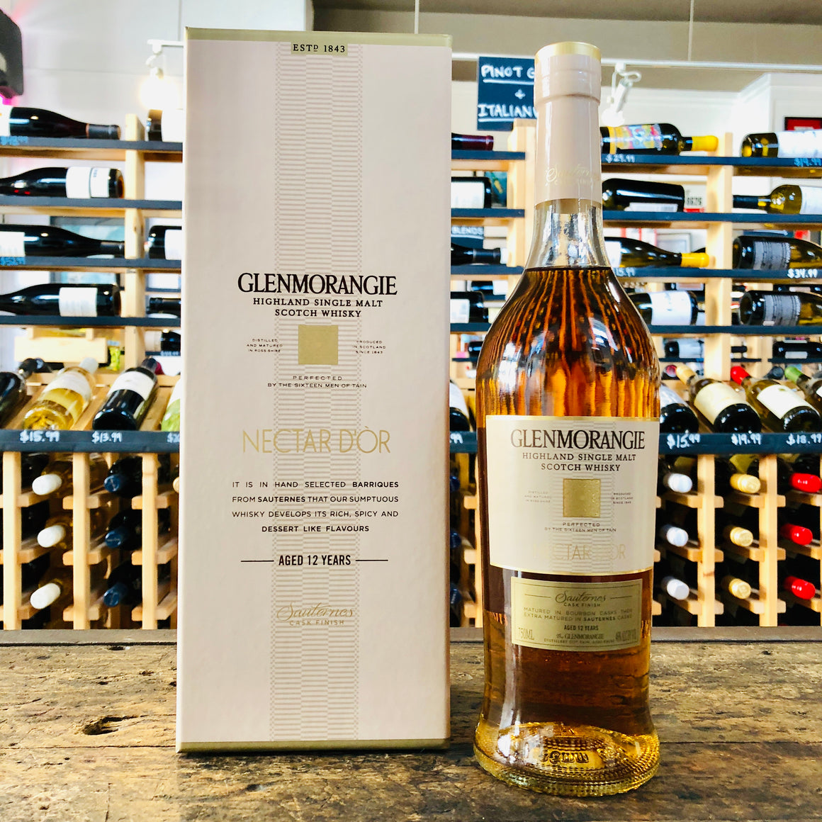 GLENMORANGIE 12YR NECTAR D'OR HIGHLAND SINGLE MALT SCOTCH 750ML