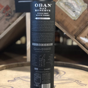 OBAN BAY RESERVE THE NIGHT'S WATCH GAME OF THRONES LIMITED EDITION SINGLE MALT SCOTCH 750ML