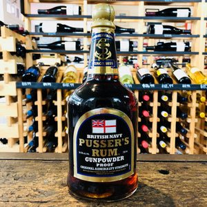 BRITISH NAVY PUSSER'S GUNPOWDER RUM 109 PROOF 750ML