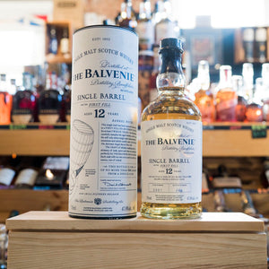 THE BALVENIE 12 YEAR SINGLE BARREL FIRST FILL SINGLE MALT SCOTCH 750ML