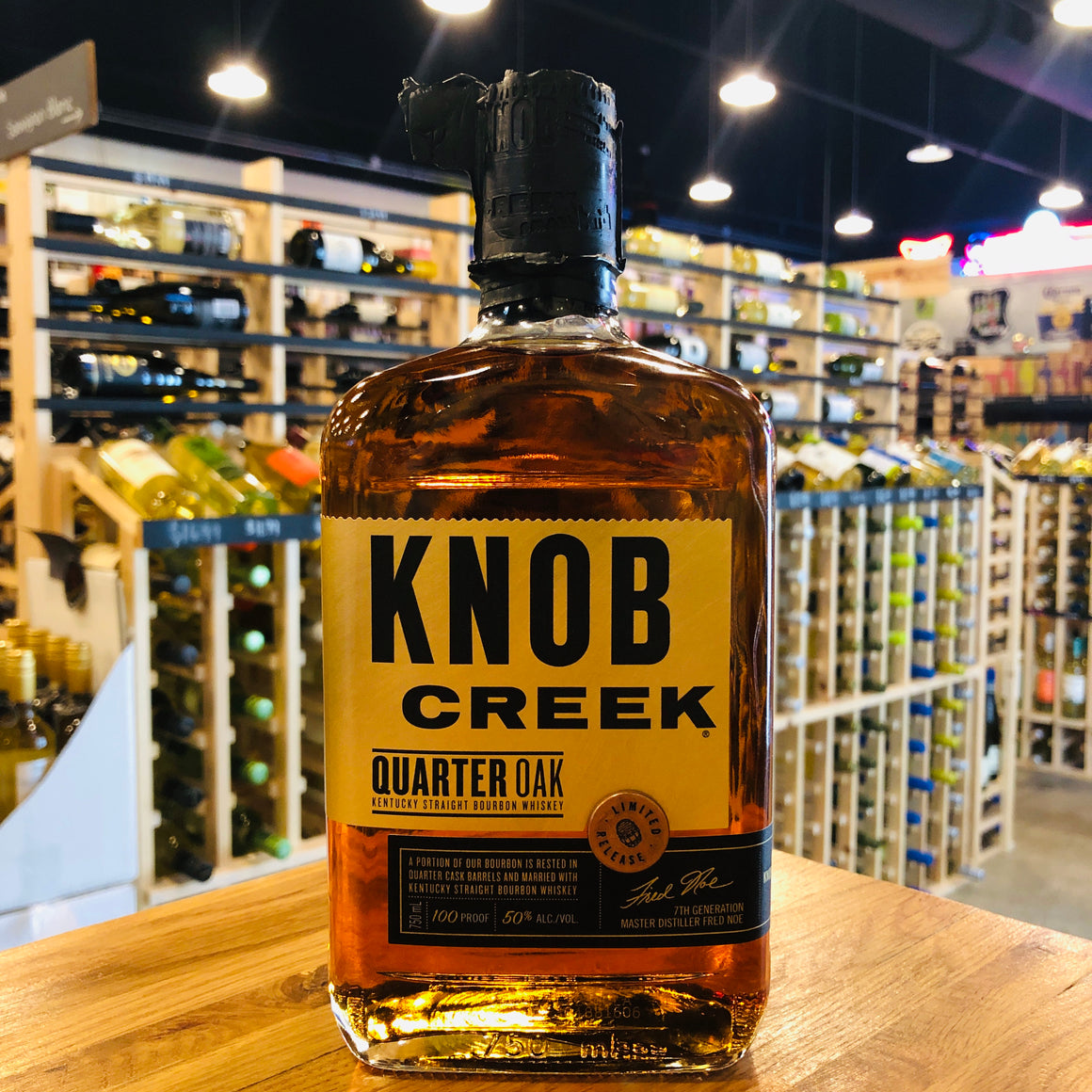 KNOB CREEK BOURBON QUARTER OAK BOURBON 100 PROOF 750ML