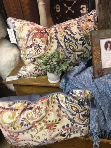 Periwinkle Floral Pillow