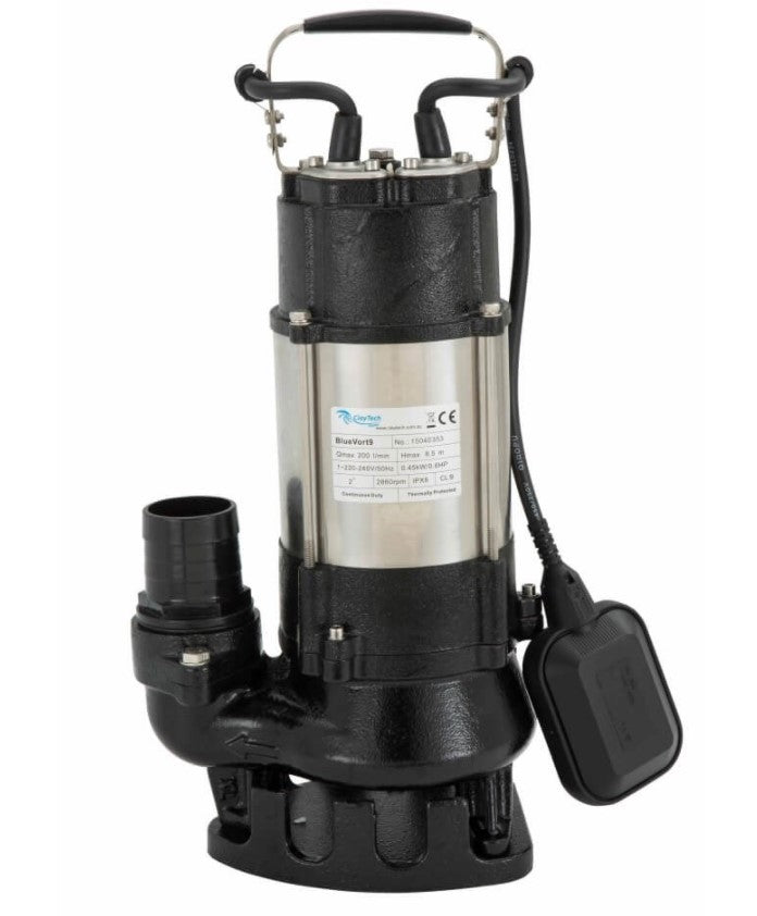 ClayTech BLUEVORT 9 Submersible Automatic Drainage Vortex Pump 0.45KW 240V (807700)