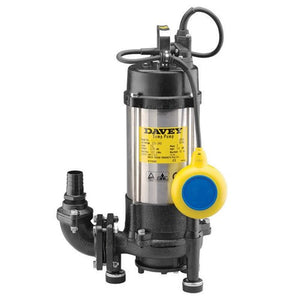 Davey D120GA Submersible Sewage Grinder Automatic Pump 1.2KW 240V