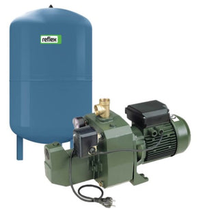 DAB-151MP-50V Surface Mounted Cast Iron Shallow Well Pump with Pressure Switch & 50 Litre Pressure Tank 1.1KW 240V (701390)
