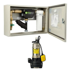 Davey KRBCABS1/20 Submersible Rainbank Series 2 Kit in a Cabinet with D42A/B20 Pump 0.6KW 240V (with 20m Leads)