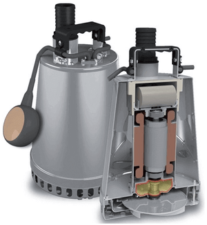 ZEN-DRSTEEL55MA -SUBMERSIBLE SLIGHTLY DIRTY WATER 300L/M  PUMP