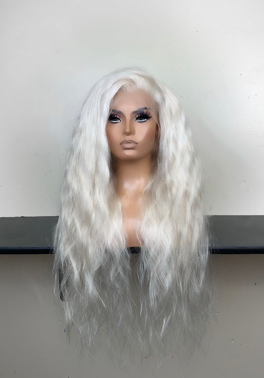 Cool/White Blonde Blank Wig