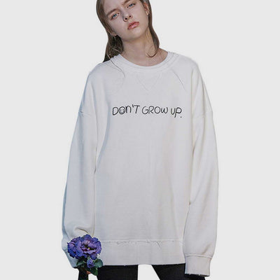 "Sweat Crème ""Don't grow Up"""
