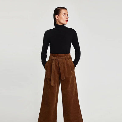 Pantalon évasée Simple