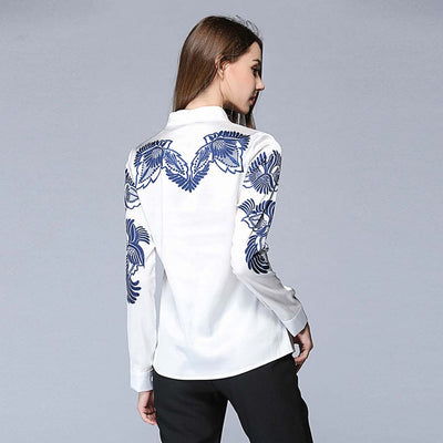 Blouse Broderie Lotus