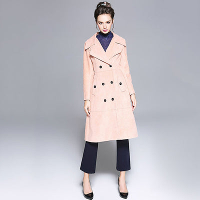 Manteau Mi-long en Velours